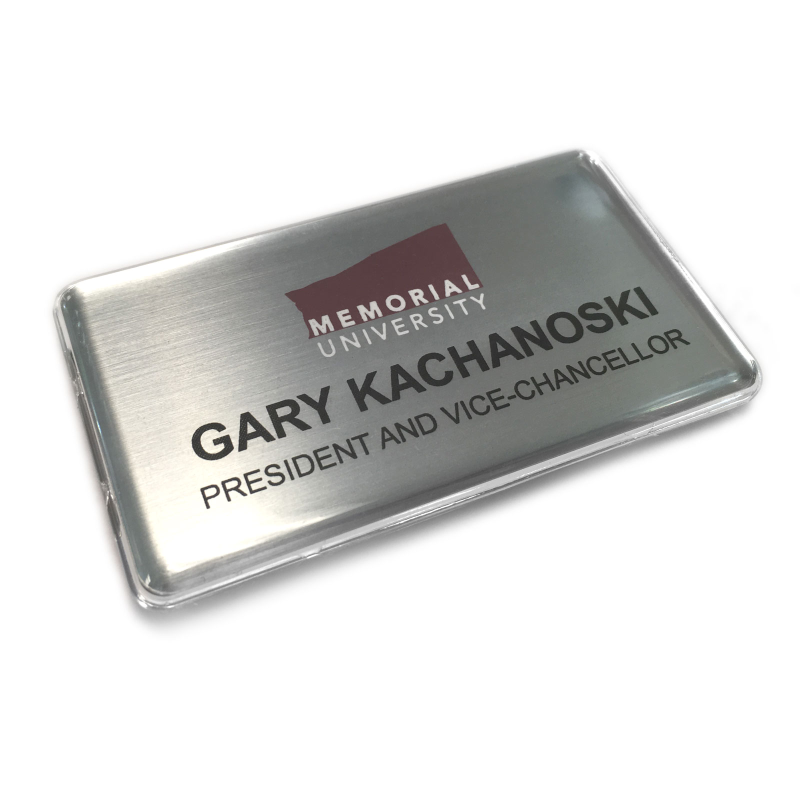 Photo of name badge