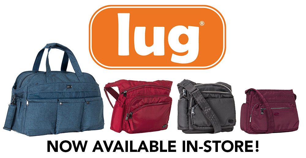 Lugs, totes, purses - now available in store